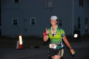 yup, finishing during the night, but still finishing (Ironman Louisville)