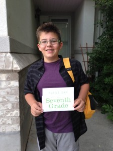 Caleb - first day of 7th grade (before this all started)