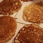 pancakes on tile